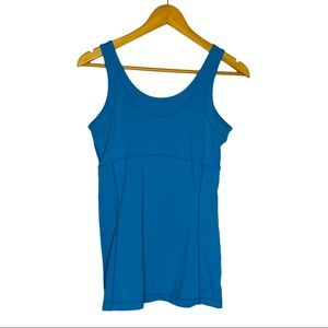 Lucy Athletic Tank top blue womens size Medium